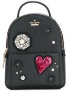 Kate Spade Mini Appliqué Embellished Backpack - Black