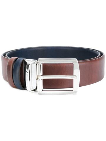 Kiton - Two-tone Belt - Men - Leather - 95, Brown, Leather