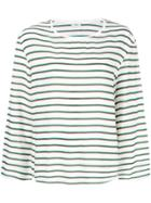 Closed Striped Top - White