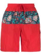 Etro Floral Swim Shorts - Red