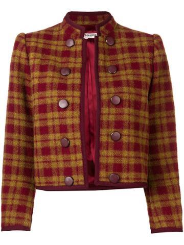 Yves Saint Laurent Vintage 1980 Check Jacket - Red
