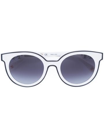 Carolina Herrera Cat Eye Sunglasses - White