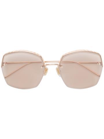 Boucheron Square Frame Sunglasses - Metallic