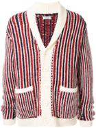 Coohem Striped Cardigan - Red
