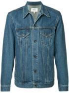 Makavelic Lazer Denim Trucker Jacket - Blue