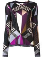 Versace Collection Geometric Print Longsleeved T-shirt