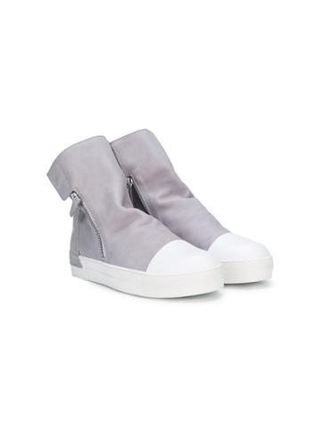 Cinzia Araia Kids Zipped Ankle Boots - Grey