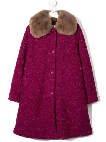 Douuod Kids Teen Single Breasted Coat - Pink