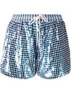 Ashish Gingham Check Sequins Shorts