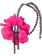Lanvin Flower Pendant Necklace, Women's, Pink/purple