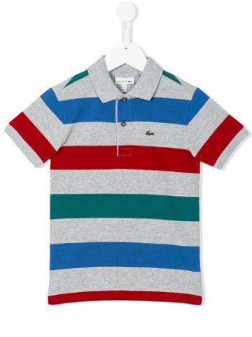 Lacoste Kids - Striped Polo Shirt - Kids - Cotton - 10 Yrs, Grey