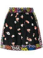 Pinko Floral Print Shorts - Black