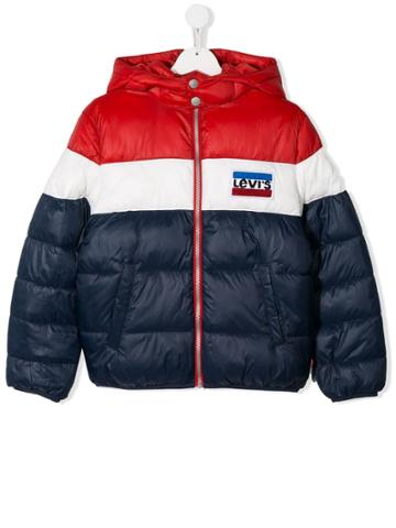 Levi's Kids Teen Panelled Padded Jacket - Blue