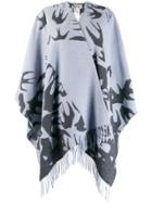 Mcq Alexander Mcqueen Large Knitted Scarf - Blue