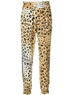 Kendall+kylie Leopard Print Trousers - Brown