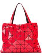 Bao Bao Issey Miyake - Geometric Pattern Tote - Women - Polyester/pvc - One Size, Red, Polyester/pvc