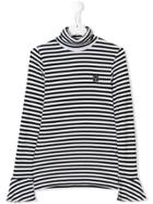 Les Coyotes De Paris Striped Knitted Sweater - Black