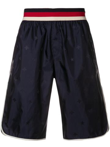 Gucci Bees Track Shorts - Blue