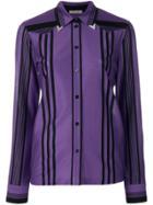 Bottega Veneta Silver Tipped Blouse - Pink & Purple