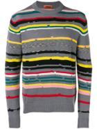 Missoni Crewneck Striped Sweater - Grey