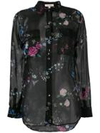 Equipment Floral Sheer Blouse - Black