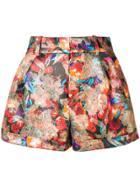 Saint Laurent Jacquard Shorts - Multicolour