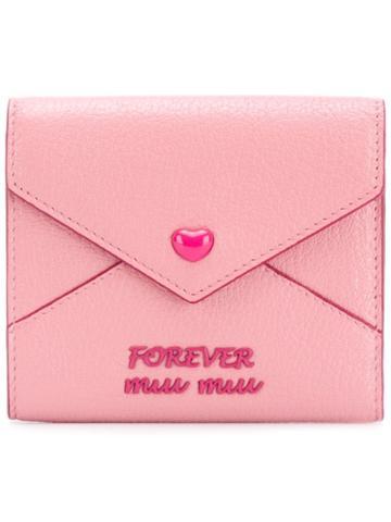 Miu Miu 'forever Miu Miu' Wallet - Pink