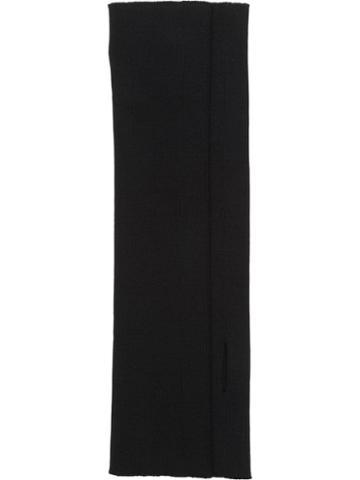 Miu Miu Fingerless Wool Gloves - Black
