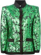Yves Saint Laurent Vintage Fitted Jacquard Jacket