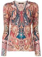 Roberto Cavalli Printed Knit Top - Multicolour