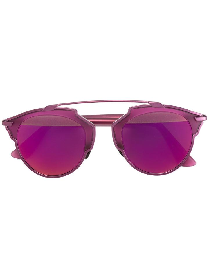 Dior Eyewear 'so Real' Sunglasses - Pink & Purple