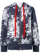 Sonia Rykiel - Printed Bomber Jacket - Women - Cotton - S, Blue, Cotton