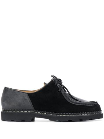 Ymc Colour Blocked Lace-up Loafers - Black