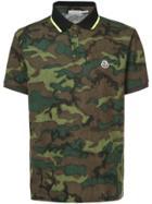 Moncler Camouflage Polo Shirt - Green