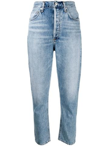 Agolde Slim Faded Jeans - Blue