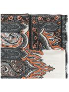 Etro Patterned Scarf - Grey