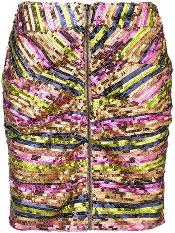 Jovonna Sequins Mini Skirt - Multi