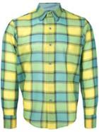 Facetasm - Longsleeve Plaid Shirt - Men - Nylon/wool - 5, Yellow/orange, Nylon/wool