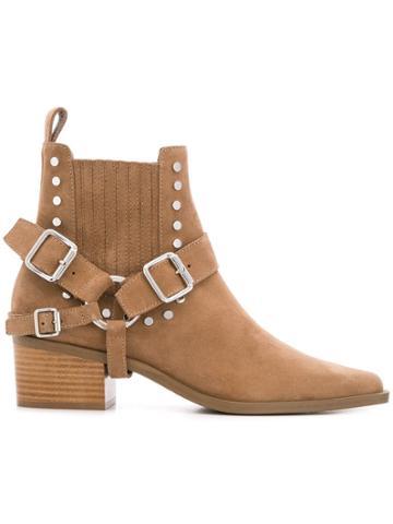 Diesel Black Gold Western Ankle Boots - Brown