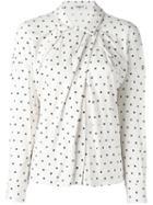 Cacharel Draped Polka Dot Shirt