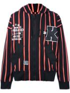 Ktz Striped Varsity Style Hoodie