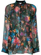 Iro Beatle Floral Sheer Blouse - Black