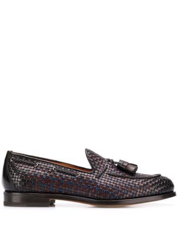 Santoni Tassel Oxford Shoes - Brown