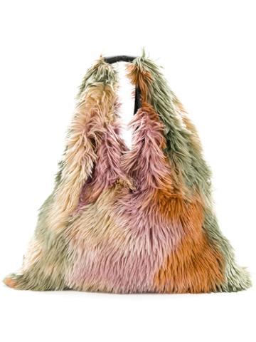 Mm6 Maison Margiela - Furry Textured Shoulder Bag - Women - Leather/acrylic - One Size, Leather/acrylic
