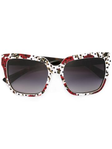 Dolce & Gabbana Enchanted Beauties Sunglasses, Women's, White, Acetate