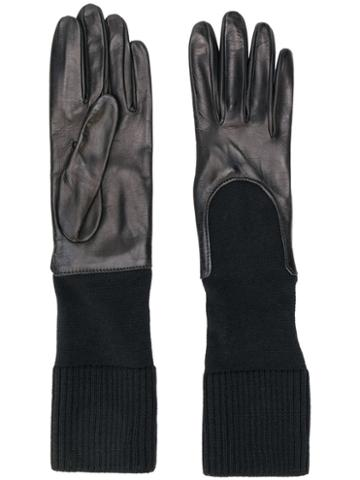 Gala Gloves Knitted Cuff Gloves - Black