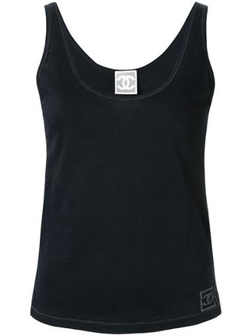 Chanel Pre-owned Sports Line Logo Tank Top - Black