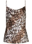 L'agence Leopard Print Top - Brown