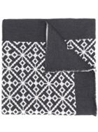 Versace Patterned Intarsia Scarf - Grey