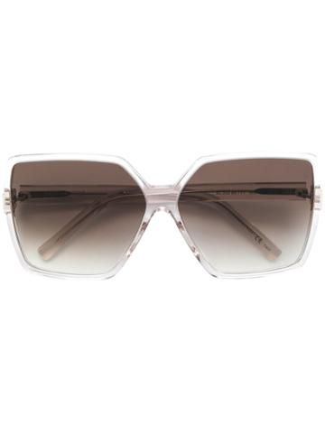 Saint Laurent Eyewear Betty Oversized Sunglasses - White